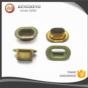 8mm Metal Colored Oval Eyelet For Shoes