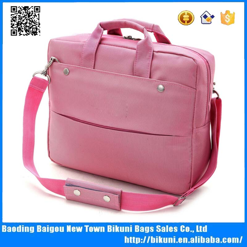 Fashion cheap waterproof 14 inches laptop bag with single shoulder strap notebook bag for girls and boys