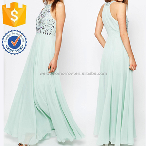 Woven Chiffon Cutaway Armour Summer Maxi Beach Dresses Manufacture Wholesale Fashion Women Apparel (TF0290D)