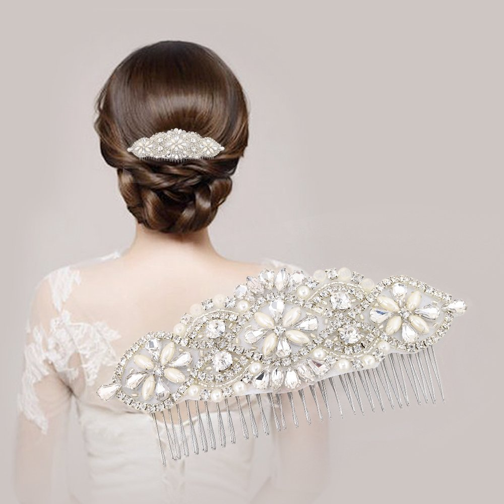 Get Quotations · Bridal Wedding Hair Comb c1238c4ce8bd