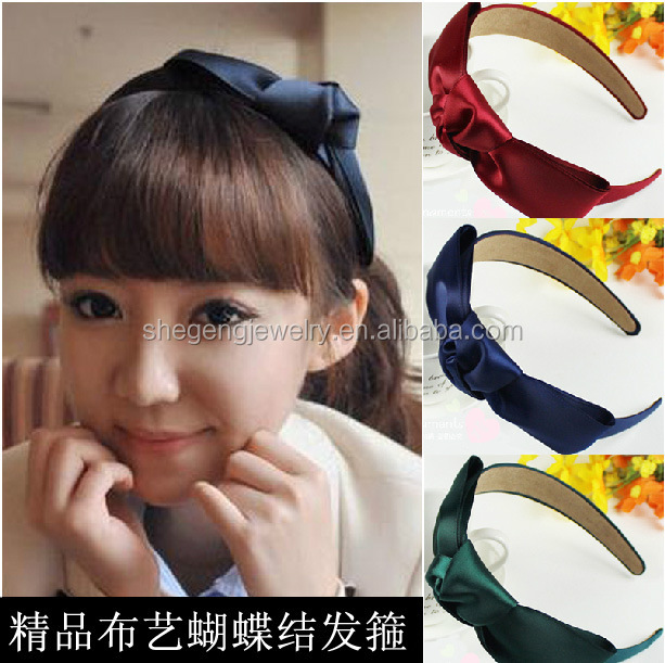 "6"" Satin Bow Girls Headband"