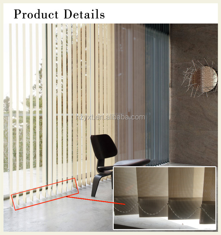Functional aluminium rail for vertical blinds accessories