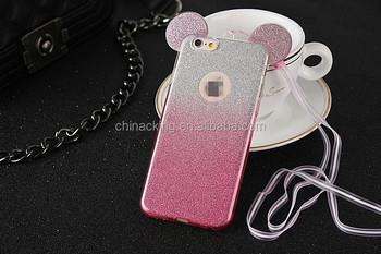 Funda Silicona Orejas De Mickey Mouse Iphone 6 6s 3 Colores