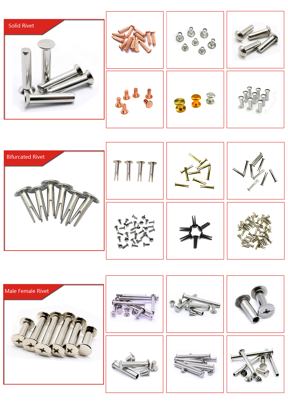 OEM ODM High Quality Competitive Price Multifunctional Alloy Wheel Rivets Factory From China
