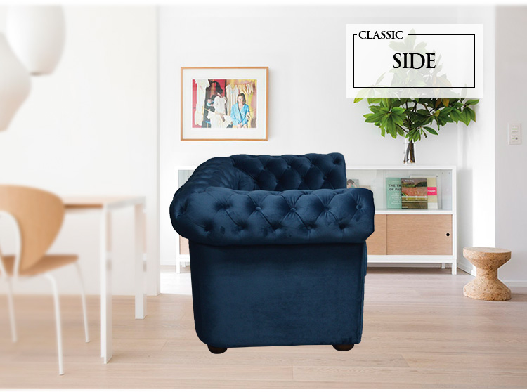 Modern design blue color soft fabric recliner  living room set single sofa