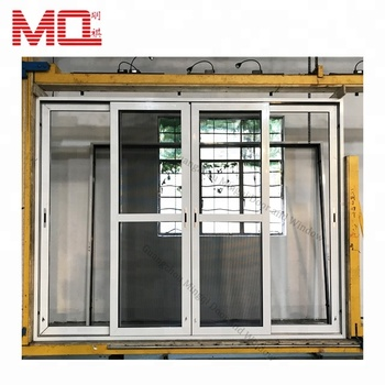 Interior aluminum double glass sliding door for living room