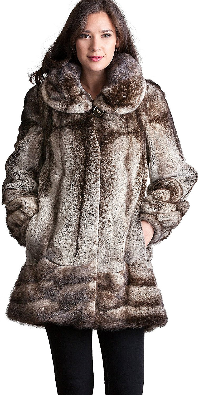 Overland Sheepskin Co Gilda Danish Mink Fur Coat