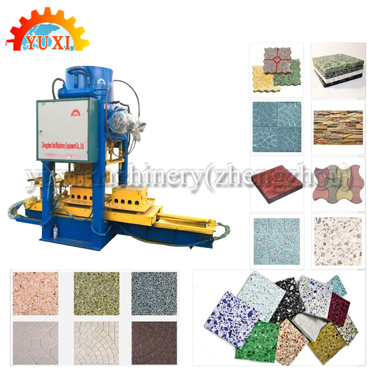 Tuff Marble Tile Manufacturing Equipment Auto Stone Ethiopia Stone Floor Tile Polishing Machine Terrazzo Tile Making Machinery