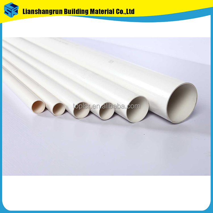 plumbing industrial pvc drainage white gray pipes 50mm