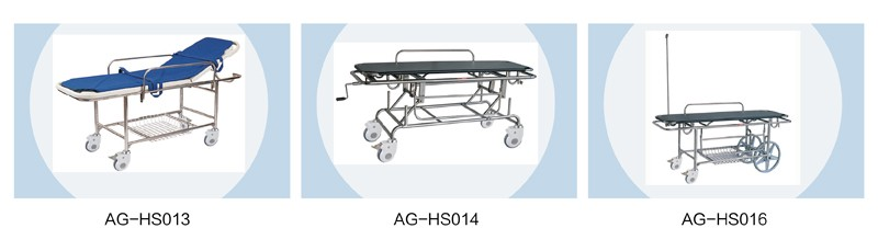 AG-HS002 Two ABS handrails manual cranks adjust first aid delivery hospital patient transport stretcher