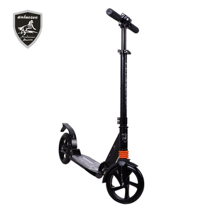 200MM big wheel adult folding kick scooters with foot braking