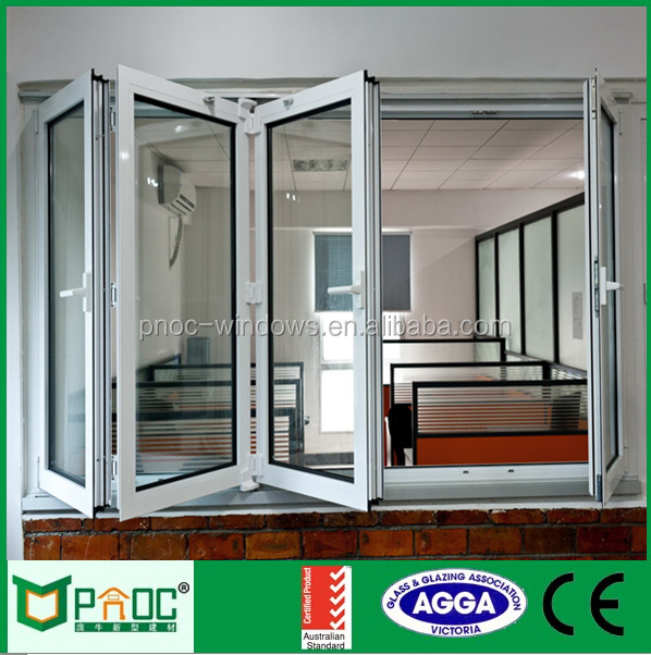 Advanced technology powder coated burglar proof aluminium folding window