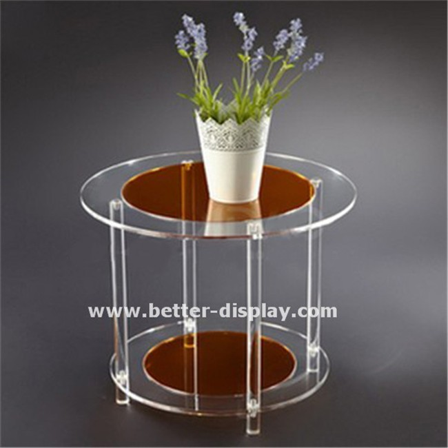 high quality round acrylic coffee table