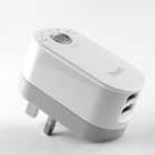 2 usb home timer charger adapter 5V2.4A with folded uk plug form the budi factory offer OEM order