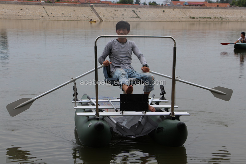 One person inflatable pontoon fishing boats buy one for One man fishing boats