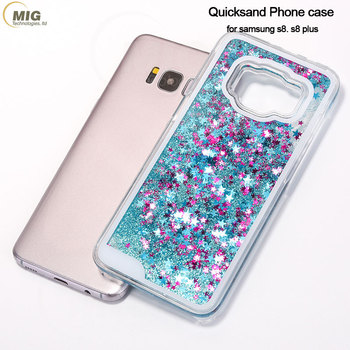 separation shoes ee477 37123 Bling Star Hard Plastic Quicksand Inside Liquid Phone Case For ...