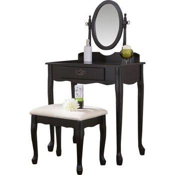 Frisiertisch Set Verstellbarer Spiegel Hocker Schlafzimmer ...