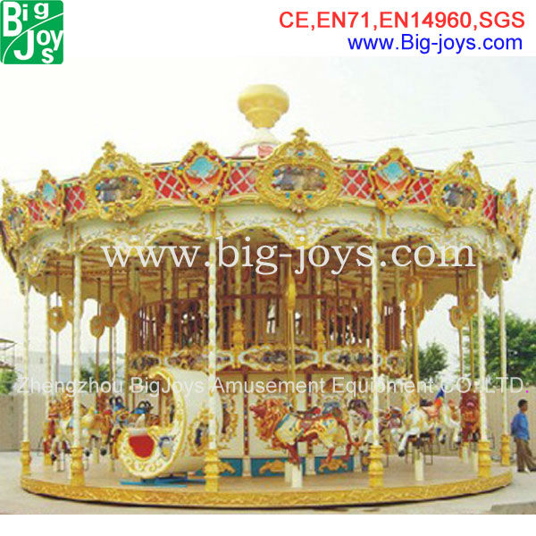 Shopping mall 36 seats double decker new carousel rides
