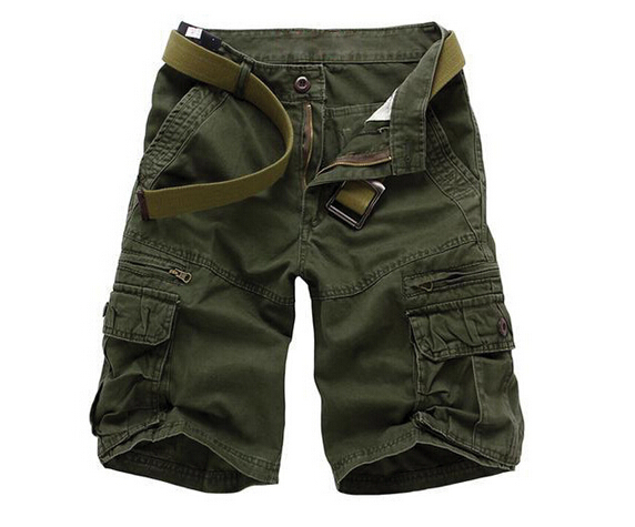 Mens Fashion Mma Short 2015 Summer Beach Camouflage Multi Pocket Trousers Man's Brand Army Cargo Casual Bermuda Shorts ZHZ1668