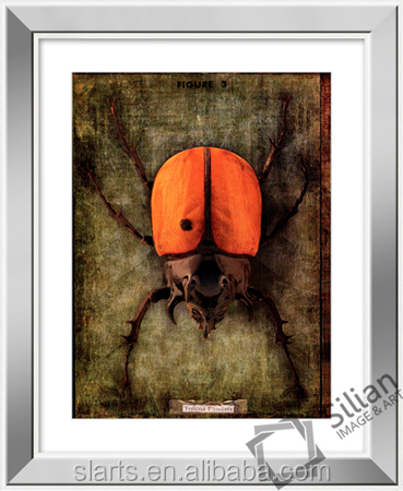 2014 Animal image with mirror frame painting