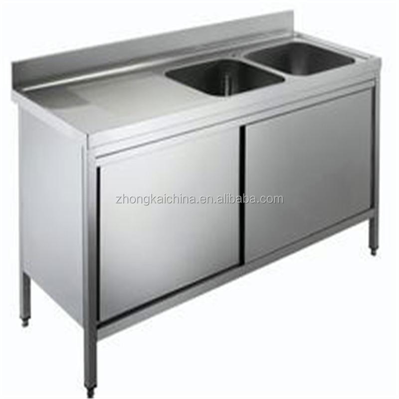 Metal Kitchen Sink Base Cabinet/stainless Steel Kitchen Sink ...