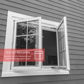 Teeyeo Ekstrusi Jenis Warna Putih Murah Rumah Vinyl Jendela Untuk Dijual A Perancis Tingkap