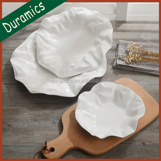 Modern lotus leaf shaped ceramic plate paper thin porcelain fruit snack plate & modern paper plates-Source quality modern paper plates from Global ...