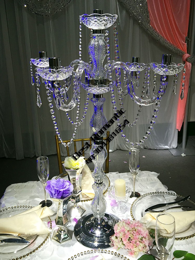 Tall wedding plastic candelabra acrylic