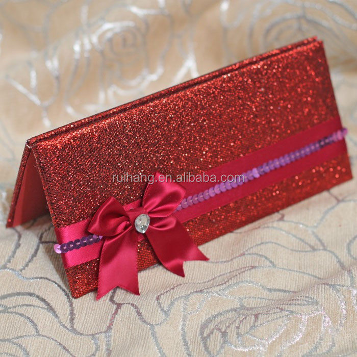 2018 New Design Chinese Red Fancy Wedding Invitation Cards Buy Red