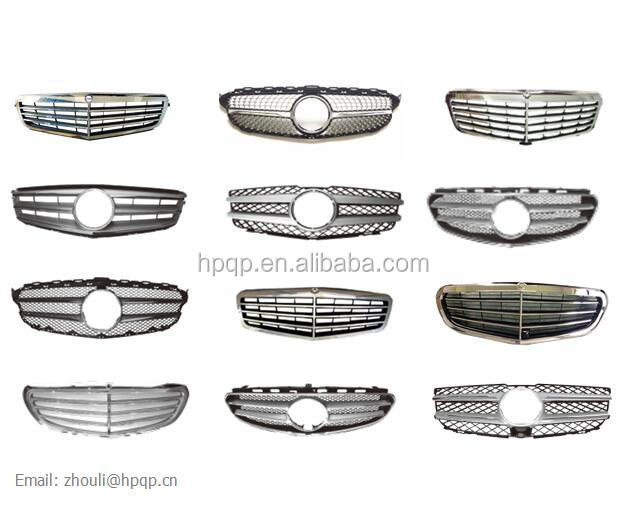 chrome front radiator grille diamond AMG style grill for mercedes w204 w205 w212 amg C class E class 4dr sedan