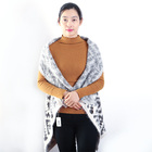 Private Label Pure White Pattern Personalized Plain Polar Woman Pastel Scarf Shawl With Fur