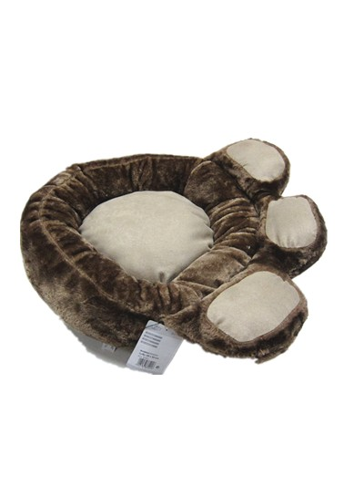 China supplier soft small dog bed paw shape pet lovely footprint shape beds for cats