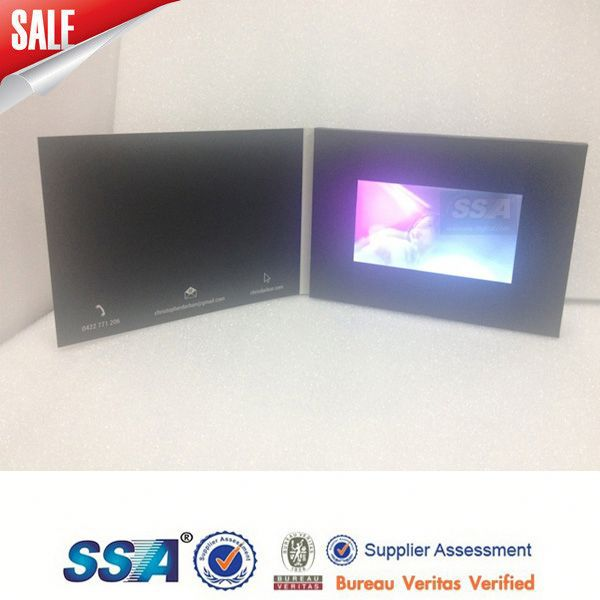 2015 cheap and fine lcd touch screen video greeting cards with jewelry box design