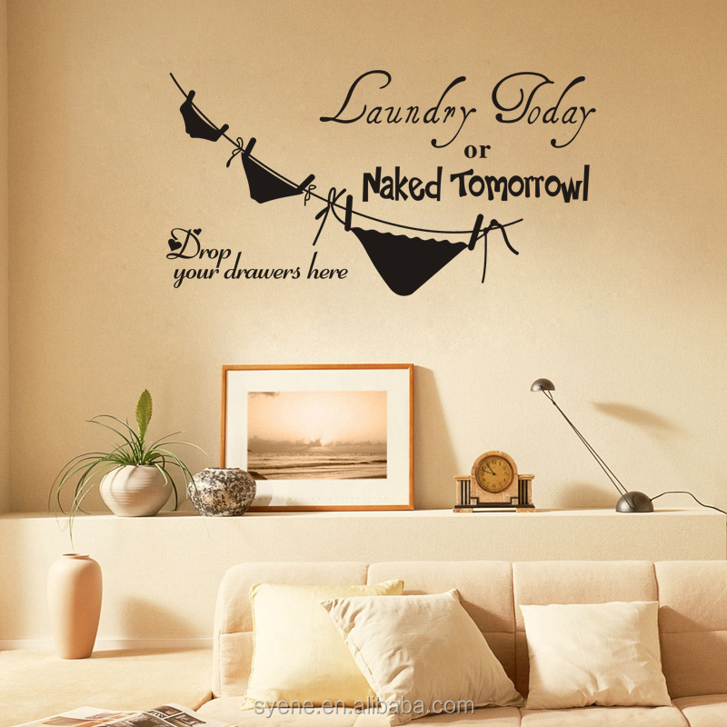 3d paper wall decoration living room wall stickers bathroom wall decor decals art vinyl quotes laundry
