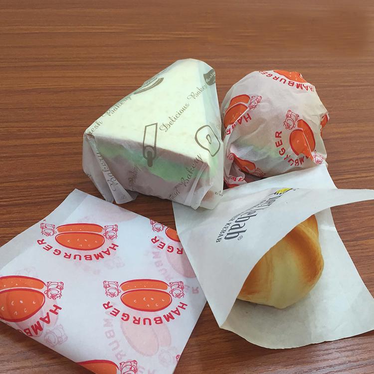 Không thấm mỡ giấy gói cho bánh hamburger hoặc bánh sandwich