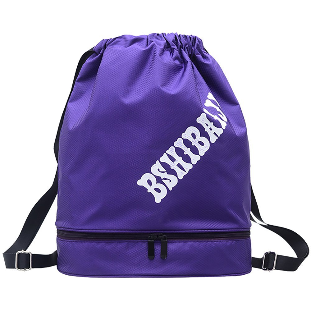 6e9121be9b24 Get Quotations · Peicees Drawstring Backpack Dry Wet Separated Swimming Bag  Waterproof Sports Backpack Drawstring Gym Bag Beach Bag