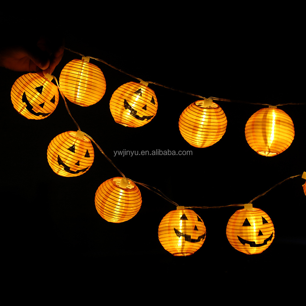halloween Paper Lanterns Lamp Shades Yellow Navy Blue Green Mixed Colors Pack of 6 for Wedding Party Decoration