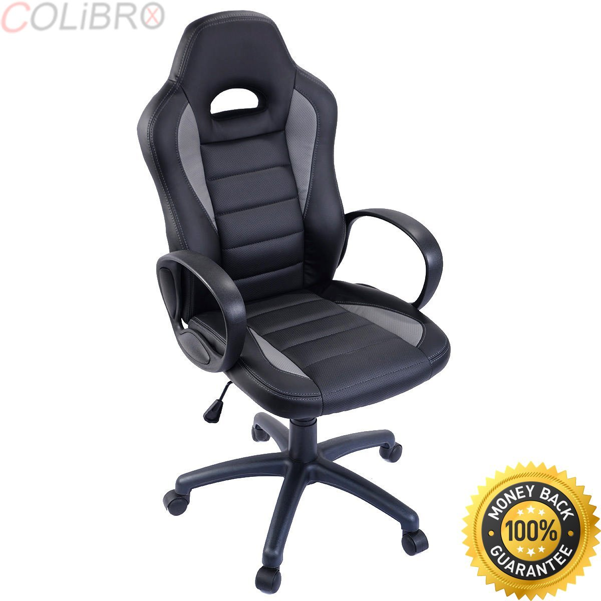 COLIBROX--New PU Leather High Back Executive Race Car Style Bucket Seat Office Desk Chair. new high back racing car style bucket seat office desk chair gaming chair. race car style office chair.