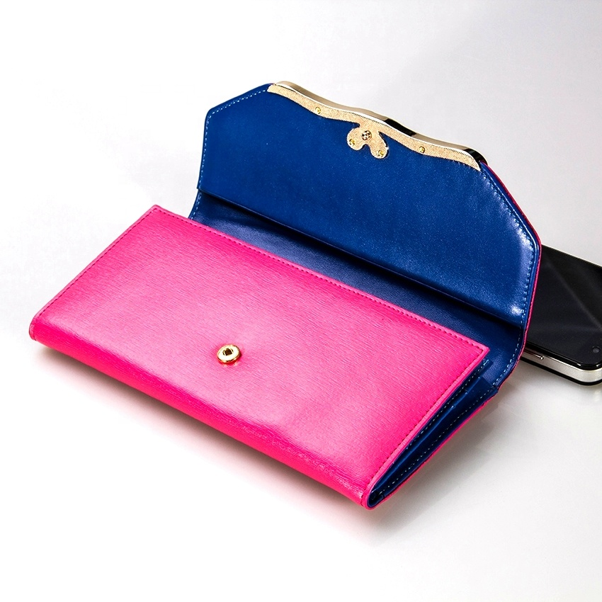 Pink <strong>Leather</strong> Trifold Ladies Credit Card Holder Organizer Wallet