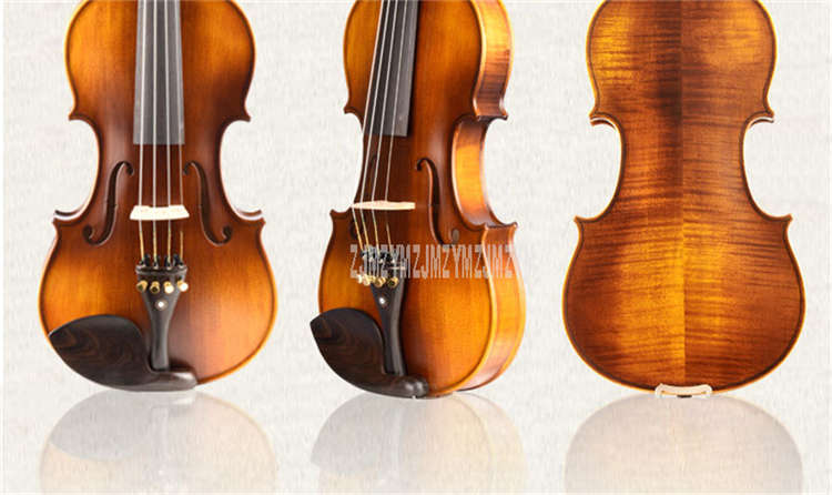 Q03 Professional Natural Wood Acoustic Violin Fiddle 4-String Instrument For Professional Violin Lover 4/4 3/4 1/2 1/4 1/8 Size