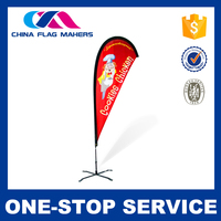 Simple Style Customized Logo Printed Portable 3.5M Beach Flag Pole