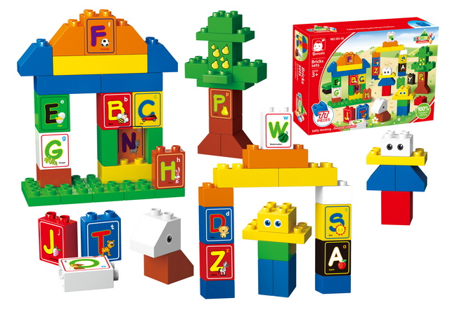 learning fun ABS great plastic alphabet blocks with EN71
