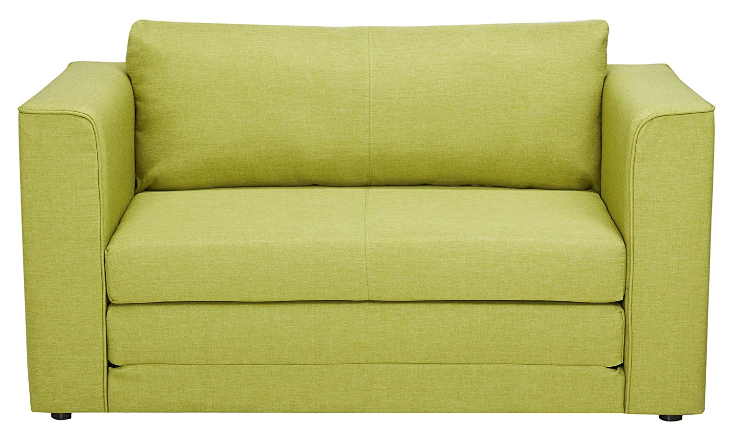 Container Furniture Direct Ava Collection Modern Reversible Fabric Upholstered Living Room Loveseat and Sofa Bed, Lime Green