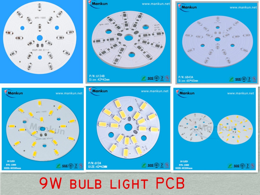 9W LED pulb light pcb with 5730 LED chip aluminum pcb
