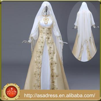Rm601 Beading Gold Islamic Real Image Embroidery Muslim Hijab ...