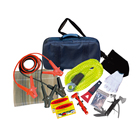 Emergency Tool Kit [ Car Kit Cables ] Roadside Assistance Car Emergency Kit First Aid Kit Rugged Tool Bag Contains Jumper Cables Tools