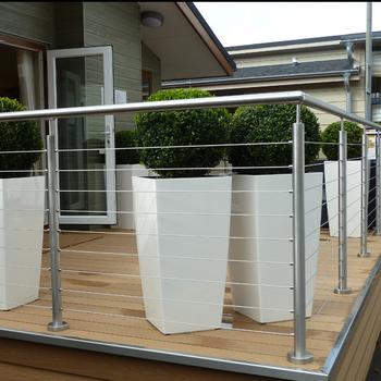 Wire Rope Deck Railing Wire Mesh Railings Outdoor Stainless Steel ...