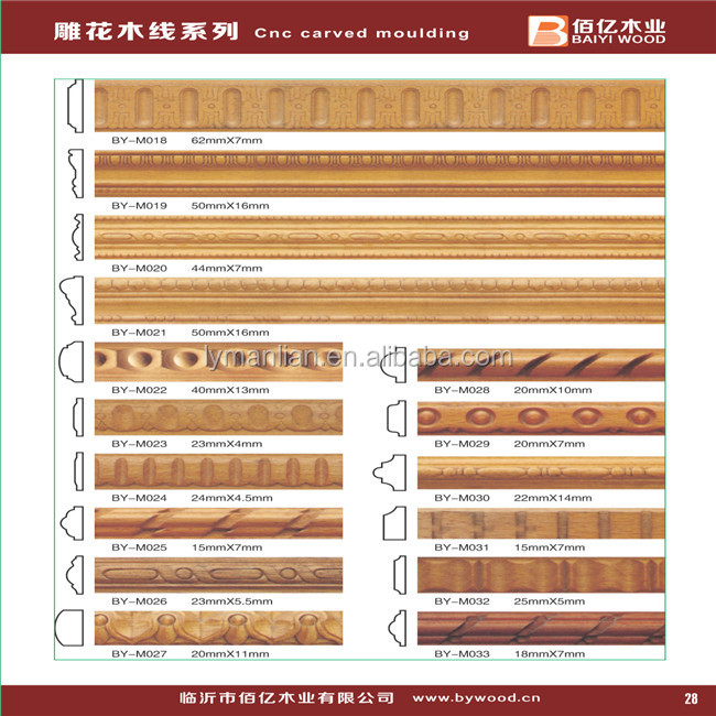 Wood decorative cabinet molding trim egg and dart moulding, View ...