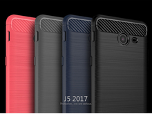iPaky Brushed soft Carbon fiber Mobile cell phone cover shaockproof case for Samsung Galaxy J7 2017