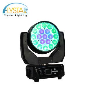 Professional led mmoving head 4in1 rgbw wash stage light 19pcs 15w led show